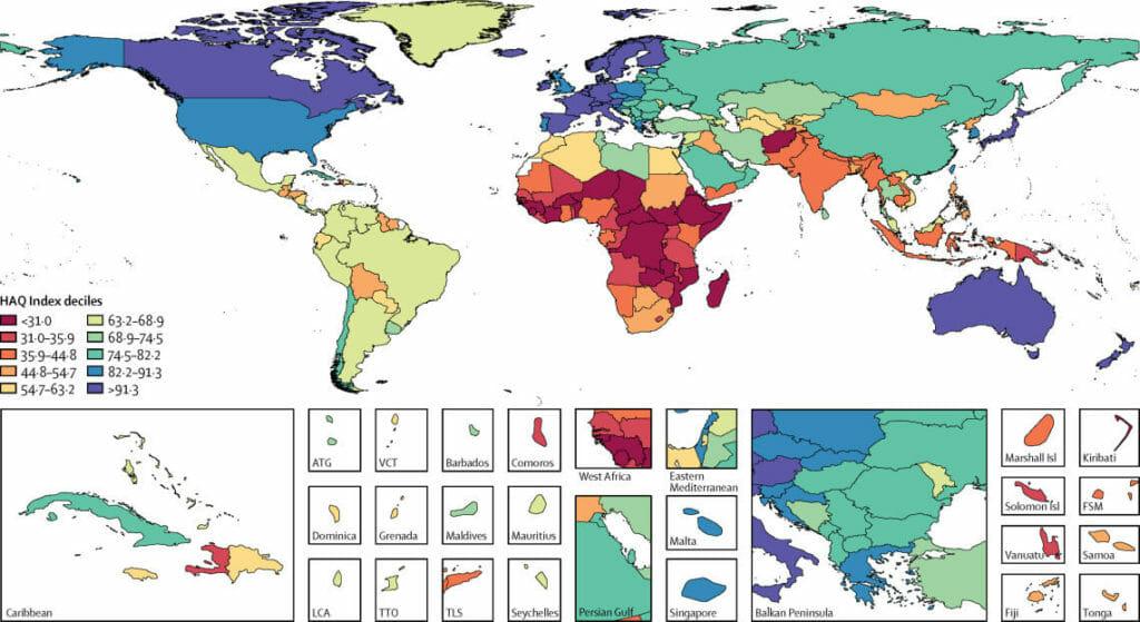 Buena calidad de sistemas de salud europeos